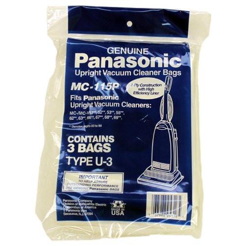 Panasonic Pana Type U3 Upright Paper Bag Pack Of 3 Our