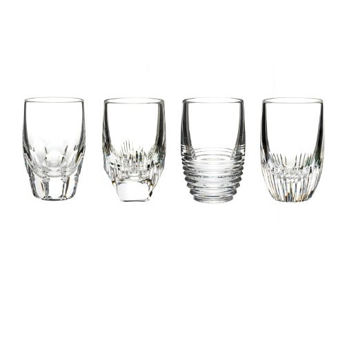 waterford mixology shot glasses - clear  set of 4