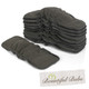 5 Charcoal Bamboo Inserts with side elastic