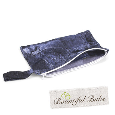 Pad Purse for Washable Cloth Pad-Denim-Bountiful Bubs