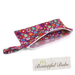 Pad Purse for Washable Cloth Pad-Dotty-Bountiful Bubs