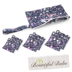 Reusable Pads, Essentials Pack, Purple Peace