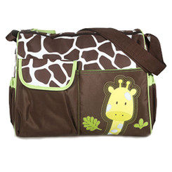 Giraffe Print Nappy Bag