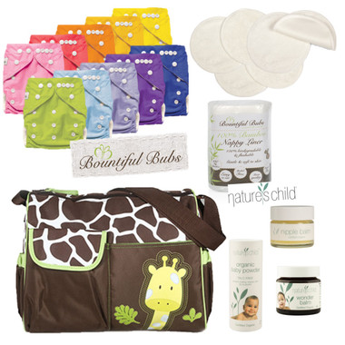 Giraffe Nappy Bag combo Pack