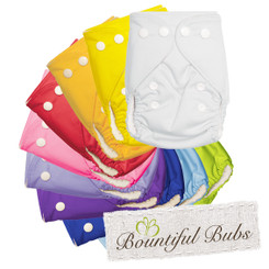 Bamboo Cloth Nappies 10 Pack, Bountiful Bubs