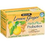 Bigelow Tea Herb Plus Probiotics Lemon Ginger (6x18 Bag )
