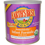 Earth's Best Sensitivity Infant Formla with Iron (4x23.2 Oz)