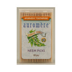 Auromere Ayurvedic Neem Picks 100 Toothpicks (12 Pack)