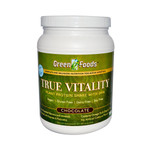 Green Foods True Vitality Plant Protein Shake with DHA Chocolate (1x25.2 Oz)
