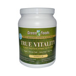 Green Foods True Vitality Plant Protein Shake with DHA Vanilla (1x25.2 Oz)