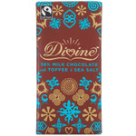 Divine Chocolate Milk Chocolate Toffee and Sea Salt (10x3.5 OZ)