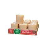Aloha Bay Candle Votive Essential Oil Chai Spice (12x 2 Oz)