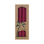 Aloha Bay Palm Tapers Burgundy (4 Candles)