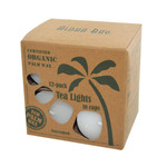 Aloha Bay Palm Wax Tea Lights with Aluminum Holder (12 Candles)