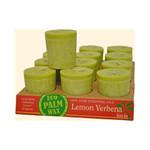 Aloha Bay Votive Eco Palm Wax Candle Lemon Verbena- (12x2 Oz)