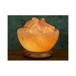Himalayan Salt Bowl Lamp with Stones