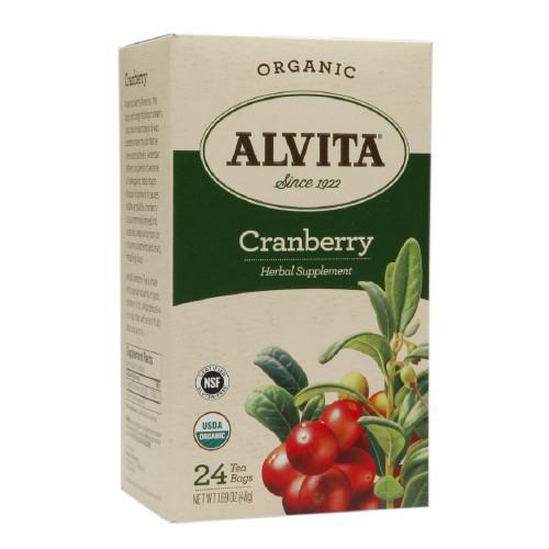 Alvita Tea Organic Cranberry Herbal (1x24 Bags)