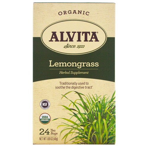 Alvita Tea Organic Lemongrass Herbal (1x24 Bags)