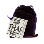Thai Deodorant Stone Stone in Velvet Pouch 1 Pouch