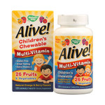 Nature's Way Alive! Children's Multi-Vitamin Chewable Natural Orange and Berry 120 Chewable Tablets