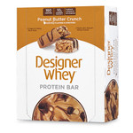 Designer Whey Protein Bars Peanut Butter Crunch (12 Bars)
