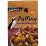 Barbara's Bakery Puffins, Peanut Butter & Chocolate (3x10.5 Oz)