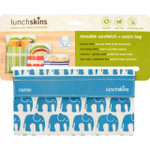 Lunchskins Bag Snack Aqua Elephant 1 Count