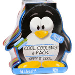 Fit and Fresh Ice Packs Cool Coolers Multicolored Penguin 4 Count