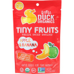 Little Duck Organics Freeze Dried Snacks Organic Tiny Fruits Apple Banana Ages 1 Year Plus .75 oz case of 6