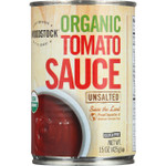 Woodstock Tomato Sauce Organic Unsalted 15 oz case of 12