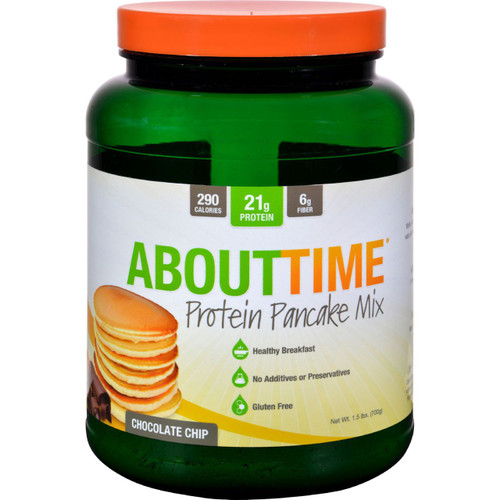 About Time Protein Pancake Mix Chocolate Chip 1.5 lb