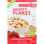 Love Grown Foods Cereal Mighty Flakes Strawberries and Flakes 12 oz case of 6