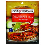 Casa Mexicana Authentic Seasoning Mix Chicken Chipotle Tacos Hot 1 oz Case of 12