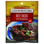 Casa Mexicana Authentic Seasoning Mix Beef Tacos Hot 1 oz Case of 12
