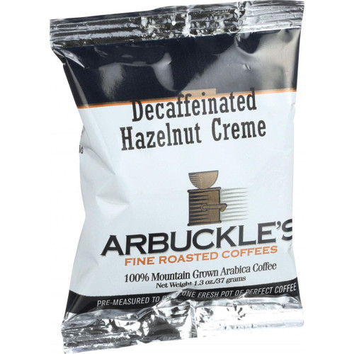 Arbuckles' Coffee Decaffeinated Hazelnut Creme 1.3 oz Case of 10