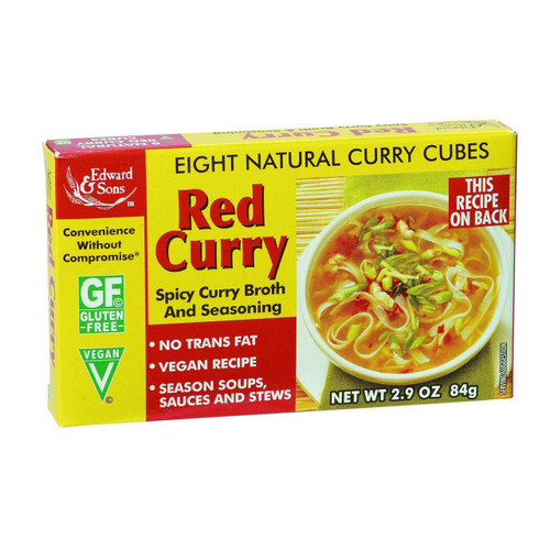 Edwards and Sons Natural Curry Cubes Red Curry 2.9 oz Case of 12