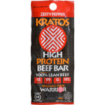 Kratos Beef Bar High Protein Zesty Pepper 1.2 oz Case of 12