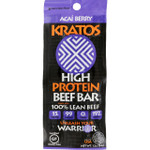 Kratos Beef Bar High Protein Acai Berry 1.2 oz Case of 12