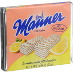 Manner Wafers Lemon Cream Filled 2.11 oz Case of 12