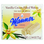 Manner Wafers Vanilla Cream Filled 2.11 oz Case of 12