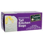 Natural Value Drawstring Tall Kitchen Bags (12x20 CT)