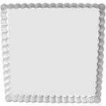 "Fat Daddio's Square Fluted Tart Pan, 12"" x 12"" x 1"", removable bottom Box of 6"