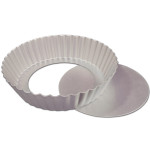 "Fat Daddio's Fluted Tart Pan, 8"" x 2"" removable bottom"