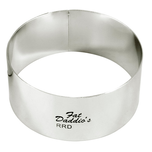 """Fat Daddio's Rings round stainless steel 2 1/2"""" x 2"""""""