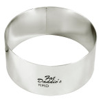 "Fat Daddio's Rings round stainless steel 2"" x 3"""