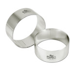"Fat Daddio's Rings round stainless steel 3"" x 3"""