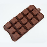 "Fat Daddio's Silicone Chocolate Mold, 9.13"" x 4.18"", Square Gift Box, 1.06"" square x .79"" high, 15 pcs per mold"