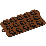 "Fat Daddio's Silicone Chocolate Mold, 9.13"" x 4.18"", Partitioned Cube, 1"" x 1"" x .75"", 15 pcs per mold"