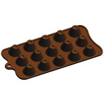 "Fat Daddio's Silicone Chocolate Mold, 9.13"" x 4.18"", Dimpled Volcano, 1.1"" x .75"" high, 15 pcs per mold"