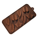 "Fat Daddio's Silicone Chocolate Mold, 9.13"" x 4.18"", Fall Leaves (Misc), 1.1"" x .65"", 8 pcs per mold"